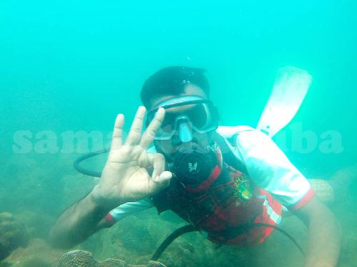 Customer Enjoying Scuba Diving